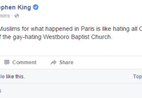 O Stephen King έκανε τελικά την καλύτερη ανάρτηση που θα δεις για τους Μουσουλμάνους σήμερα
